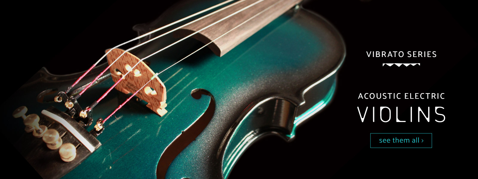 closeup of body of green acoustic electric violin